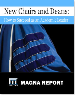 New Chairs and Deans: How to Succeed as an Academic Leader